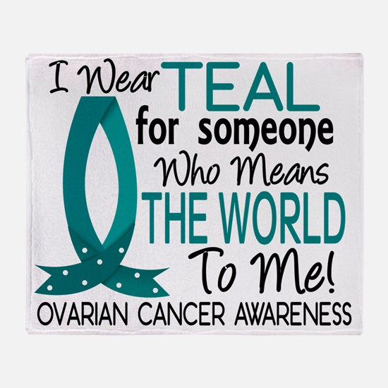 D Means The World To Me Ovarian Canc Throw Blanket