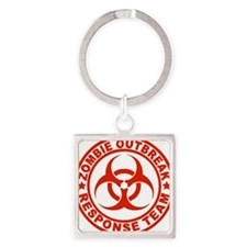 zombieOutbr1D Square Keychain