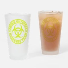 zombieOutbr1E Drinking Glass
