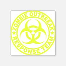 """zombieOutbr1E Square Sticker 3"""" x 3"""""""
