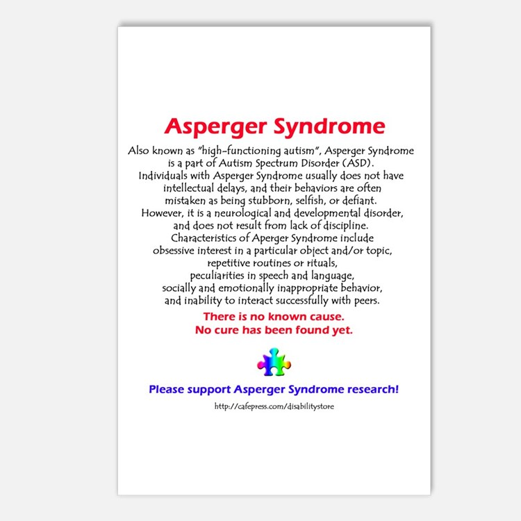 Asperger Facts Postcards (Package of 8)