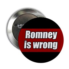 10 pack Romney is Wrong buttons