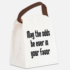 odds white Canvas Lunch Bag