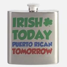 Irish Today Puerto Rican Flask