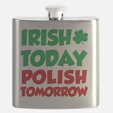 Irish Today Polish Tomorrow Flask