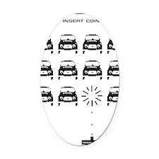 invaders Oval Car Magnet
