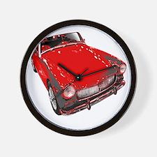 MG motorcar midget Wall Clock