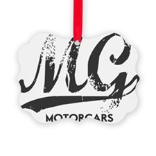 MG Motocars vintage script copy Ornament