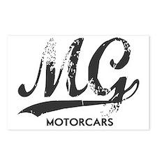 MG Motocars vintage scrip Postcards (Package of 8)