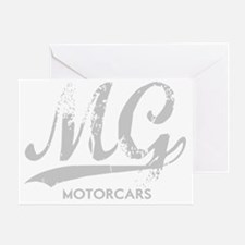 MG Motocars vintage script for dark Greeting Card