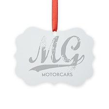 MG Motocars vintage script for da Ornament