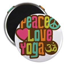 PeaceLoveYoga1 Magnet