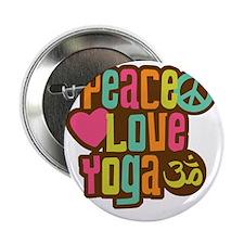 "PeaceLoveYoga1 2.25"" Button"