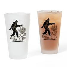 gonesquatchinRESIZED Drinking Glass