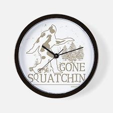 gonesquatchin2DARKRESIZE Wall Clock