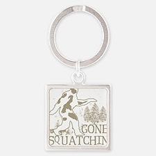 gonesquatchin2DARKRESIZE Square Keychain