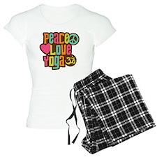 PeaceLoveYoga1sq Pajamas