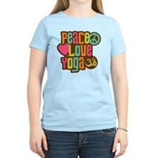 PeaceLoveYoga1sq T-Shirt