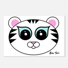 White Tiger Close Up Postcards (Package of 8)