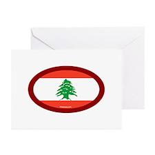Lebanese Flag Greeting Cards (Pk of 10)