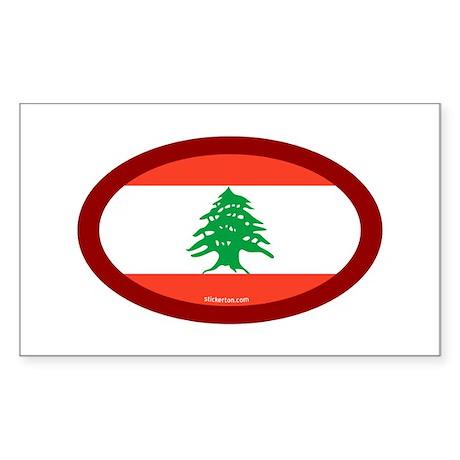 Lebanese Flag Rectangle Sticker