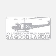 Any Landing Gray Aluminum License Plate