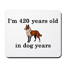 60 birthday dog years collie 2 Mousepad