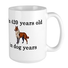 60 birthday dog years collie 2 Mugs