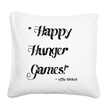 happy hunger games bold Square Canvas Pillow