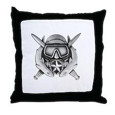 DS w SFUWO WHT Throw Pillow