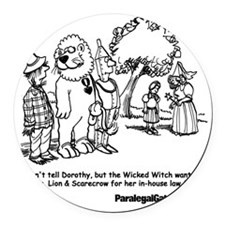 PG cartoon 2 Round Car Magnet