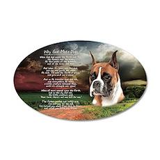 godmadedogs(license) 35x21 Oval Wall Decal