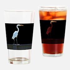 egret1 Drinking Glass
