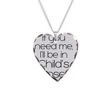 black in childs pose Necklace