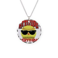 Attitude_Softball_2500 Necklace Circle Charm