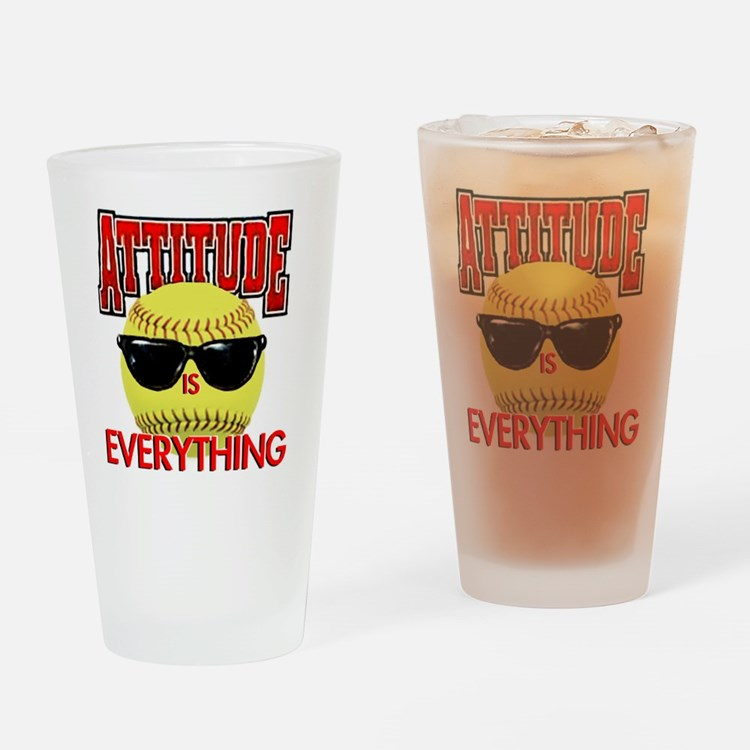 Attitude_Softball_2500 Drinking Glass