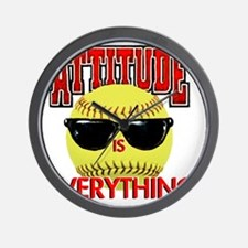 Attitude_Softball_2500 Wall Clock