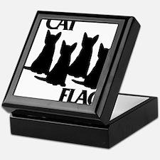 Cat Flag Keepsake Box