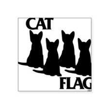 "Cat Flag Square Sticker 3"" x 3"""