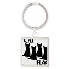 Cat Flag Square Keychain