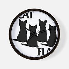 Cat Flag Wall Clock