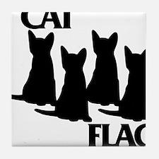 Cat Flag Tile Coaster