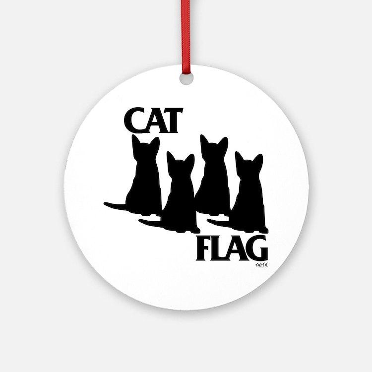 Cat Flag Round Ornament