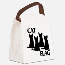 Cat Flag Canvas Lunch Bag