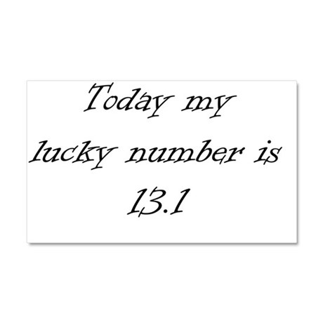 LuckynumberBlack Car Magnet 20 x 12
