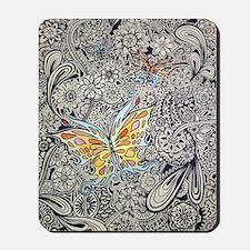 bwbutterflies zazzle poster Mousepad
