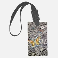 bwbutterflies zazzle poster Luggage Tag