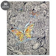 bwbutterflies zazzle poster Puzzle