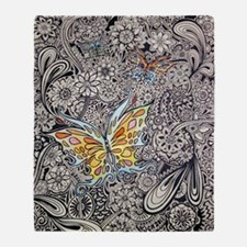 bwbutterflies zazzle poster Throw Blanket