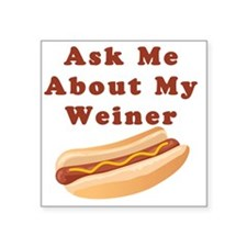 "weiner Square Sticker 3"" x 3"""